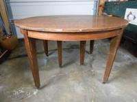 I have a round dining room table. I was told this table
