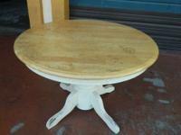 We are selling a used wooden Round Extending Table. Top
