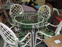 Round Glass Table with glass rack listed below - (Set
