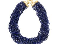 This lovely necklace features 20 strands of 3.25mm