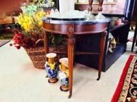 We have a wonderful little Round Marble Table with