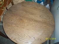 approx three foot diameter oak coffee table best offer