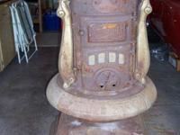 Pre-1920 Antique Round Oak Stove , a #18 in good shape