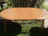 Round oak table w/ leaf real nice great deal  Location: