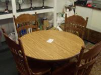 ROUND VINTAGE TABLE $45.00 AVAILABLE AT: LANGAR LLC