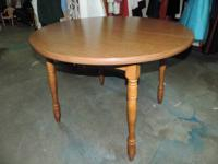 "Round Wood Kitchen area Table - 526. 42""Dia x 30.5""h -"