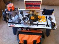 I'm selling my Ridgid router combo with 16 bits and a