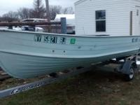 Row boat and trailer for sale. 700.00 OBO will sell