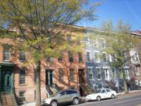 Row house apartment buildings across from Washington