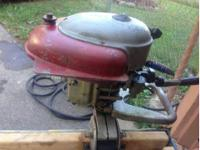 Royal 5 HP Boat Motor. This motor does run,runs