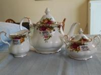 This beautiful tea set has never been used and is still