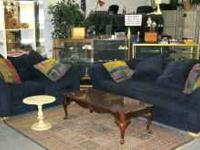 This beautiful Royal Blue Sofa Set will be sold Friday
