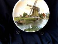 Royal Schwabap Collectable Holland Dutch Windmill Plate