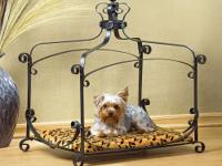 ROYAL SPLENDOR PET BED Brightly bejeweled and lushly