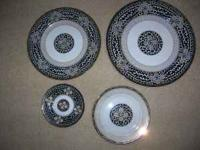 for sale is a royal tapestry replica china set. this