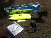 I have a miss geico pro boat rc boat for sale it's