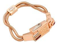 This is an 18k pink gold and platinum Retro bracelet