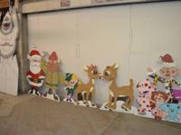 Here is a very cool set of Rudolph characters on wood.