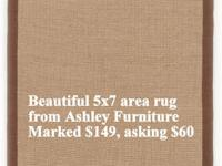 Home Accents Area Rug 5x7 - Yuma - Beige with Brown
