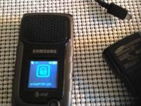 Great clam phone, excellent condition, charger, ATT,