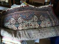 Large area rug, 7'9 x 11'3, with pad $100. 5x7 area rug