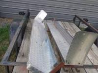 Set of Aluminum Diamond Plate running boards. Full