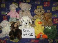 Russ Berrie Lot # 2 10Pc set including baby duck for