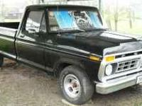 Description rust free 1977 ford f100,80k, fresh black
