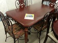 Rustic Looking 5 piece Table Set. NEW In Box! Only