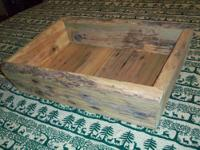 This barn wood tray or box is made from old poplar barn