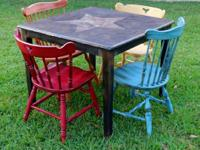 Weekend Special - Colorful Copper Star Top Dining Set