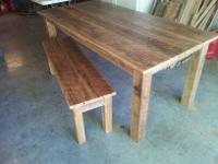 I make rustic furniture from old rough cut sawmill oak
