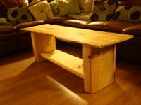 Handmade, Solid Eastern White Pine Slab Coffee Table