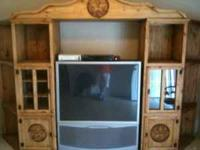 Huge, beautiful rustic entertainment center $700obo