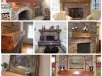 ( Our mantels are created from authentic reclaimed