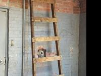 Beautiful 50 year-old authentic hayloft ladder10+ feet