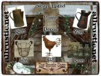 The Rustic Shop (allrustic.net) is your one stop shop