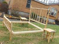 I'm SELLING A NEW BUILT LOG STYLE RUSTIC LOG BED. ITS
