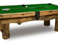 Perfect for your cabin, this 8' log pool table