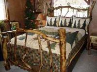This is a all newly built rustic pine queen bed. Built