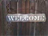 Hand crafted metal signs for around your home great