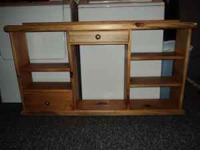 Rustic Pine Shelf in great condition. It is 48 inches