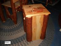 Rustic Sassafras Trash Bin - NEW - Amish Built