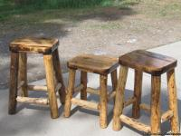 New Hand Crafted  Stools, Mortise & Tenon