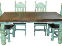 NEW SIX FOOT TABLE WITH SIX SIDE CHAIRS.  CAN BE ORDER