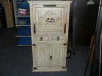 "wine/liquor cabinet, 59""tall x 32' wide x 20"" deep ."