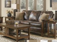 Rustic Wood Sofa - $588 (Sutherlands Home Design -.