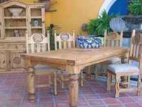 Look at this rustic table and chairs. Perfict for the