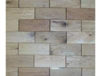 3 in. x 8 in. Interlocking wooden wall tile. Tongue and