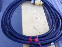 RV 50 amp power cord 25 ft Twist lock plug on one end